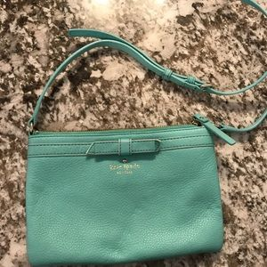 Turquoise Kate Spade cross body purse